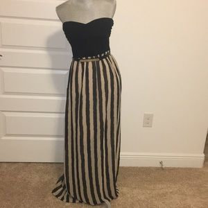 2b Bebe maxi dress with belt